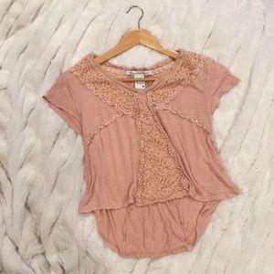 American Rag Cie Entrey pink/nude laced top